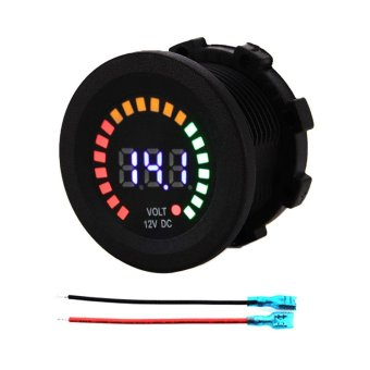 DC 12V Car Motorcycle Boat Digital Panel Voltage Display Volt MeterVoltmeter - intl