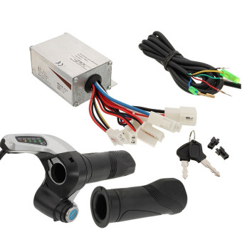 DC 24V 250W Motor Brushed Controller +DC24V Throttle Grip For Electric Scooter - intl