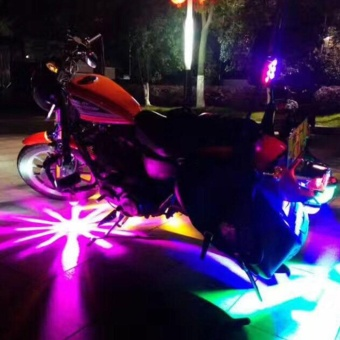 DC12V LED Cars Motorcycles Colorful Flashing Light Waterproof Energy Saving - intl