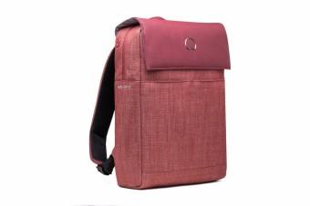 Delsey Calme 14-inch Laptop Backpack - Red - 3