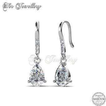 Dew Drop Earrings (White) - Crystals from Swarovski