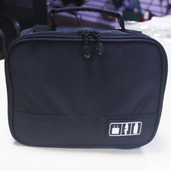 Digital Gadget Case Electronics Accessories Bags Travel Organiser Storage Boxes (Black) - intl