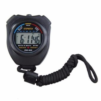 Digital Professional Handheld LCD Chronograph Sports Stopwatch StopWatch - intl