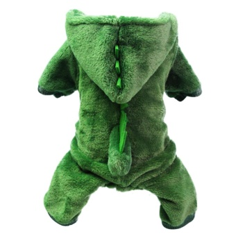 Dinosaur Change To Pet Clothes with Thick Warm Dog Clothes Costume Size M - intl