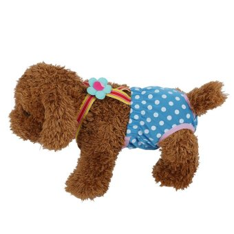 Dog Diaper Suspender Underwear Reusable Washable Pants Blue XS -intl - 2