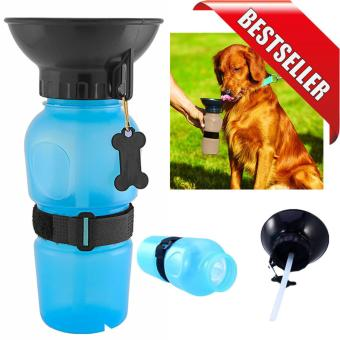 Dog Portable Water Bottle Travel Auto Drinking Bowl Mug (Blue)