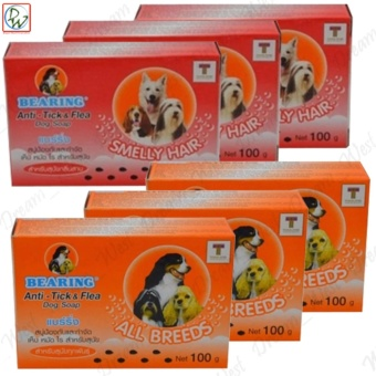 Dog Soap Bearing Anti Tick & Flea (All Breeds & SmellyHair) Set of 6
