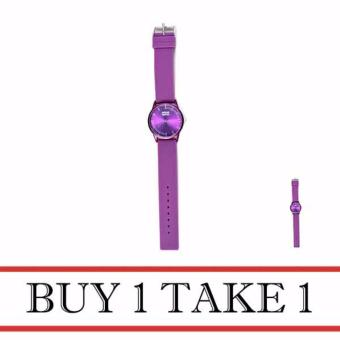 Dream Silicone Strap Watch for Women (Violet) Buy 1 Take 1