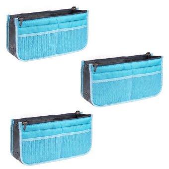 Dual Bag Organizer Set of 3 (Light Blue)