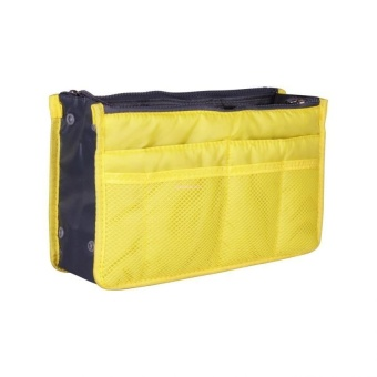 Dual Bag Organizer (Yellow) with Free Travel Mate Toiletry KitOrganizer (Color may vary)