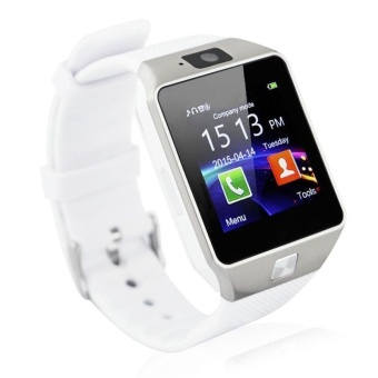 DZ09 Smart Watch with Camera, Bluetooth, and SIM/Memory Card Slots (WHITE)