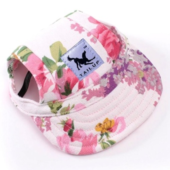 Eachgo Baseball Cap Summer Canvas Puppy Small Pet Dog Cat Visor Hat Outdoor M - intl