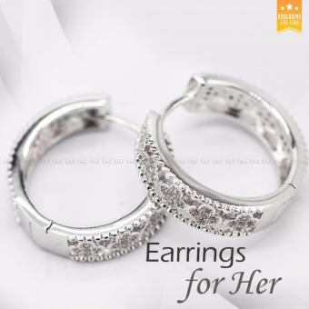 E&E Fashionable Jewellery Silver Hoop Earrings For Women