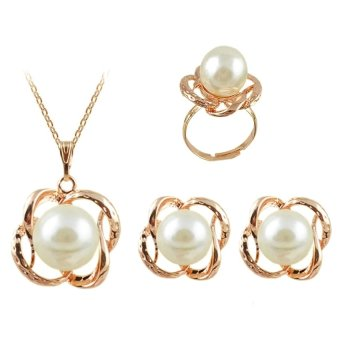 E&E HHZF-T6 Flower Pearl Accessories Jewellery Set