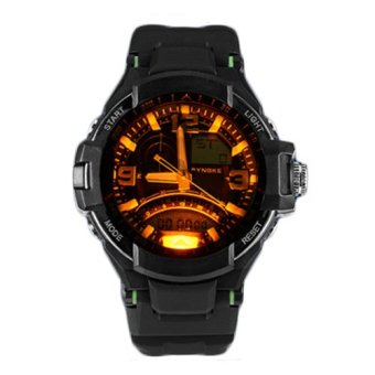 E&E SNK-67876 Men's Multifunctional Diving Waterproof 50MDigital LED Outdoor Sports Rubber Strap Watch Gift Set (Green) - 4