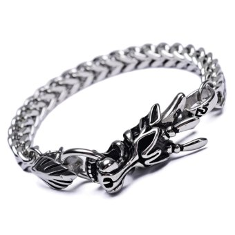 E&E ZD2 Fashion Dragon Design Bracelet (Silver)