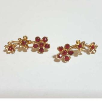 Ear Cuff Earrings (Stone Red) Price Philippines