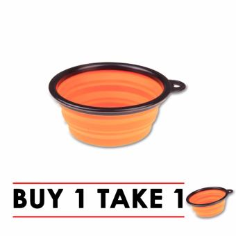 Eco-friendly Travel Collapsible Silicone Pet Bowl Buy 1 Take 1 Promo (Orange)