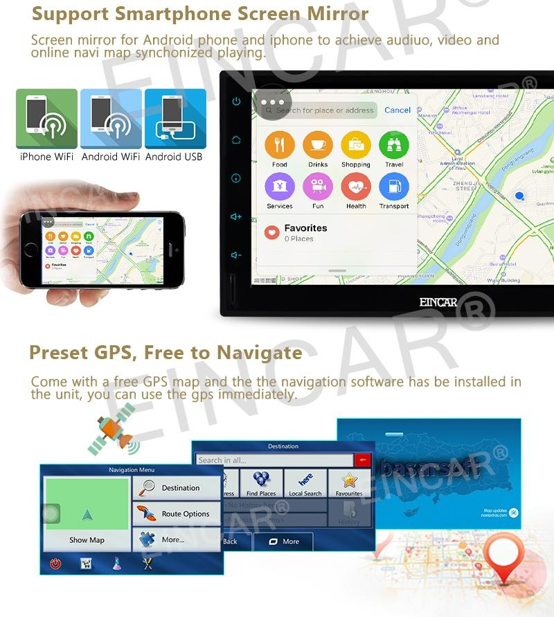 Philippines | EinCar GPS Navigation Car Stereo Android 6 0 Double 2