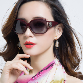 Elegant cool female near-sighted glasses polarized sunglasses
