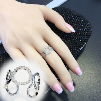 Elegant copper micro inlay Ring (Porous open ring) (Porous open ring)