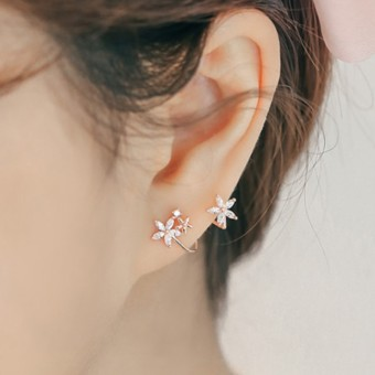 Elf fresh female elegant ear clip Korean stud