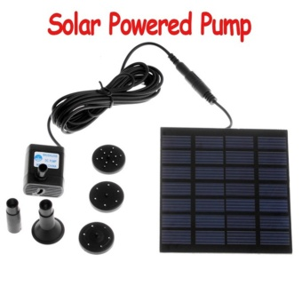 Elife 1.2W Mini Solar Energy Brushless Fountain Water Pump For Pond Rockery Garden Fountain - intl