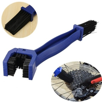 Elife Bicycle Motorcycle Mountain Bike Double-End Chain Crankset Cleaning Brush Washing Tool (Blue) - intl