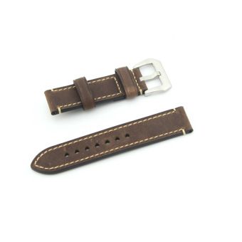 eMylo Leather Watch Band Strap Replacement Watch Belt 20mm For Man or Woman (Brown) - 2