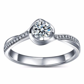 Engagement Solitaire Ring Classic CZ Diamond 1ct Proposal Solid 925Sterling Silver Ring Price Philippines