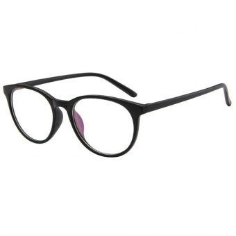 EOZY Korea Retro Plain Mirror Women Men Eyeglasses Clear Lens School Eye Glasses Eyewear Frame (Black)