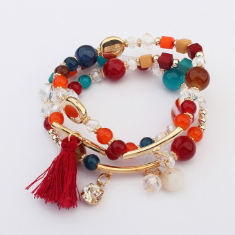 European and American crystal beaded bracelet multi-layer bracelet