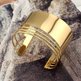 European and American exaggerated alloy open bracelet