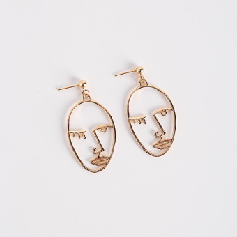 European and American female face style stud large earrings