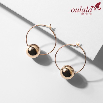 European and American short hair elegant female earrings