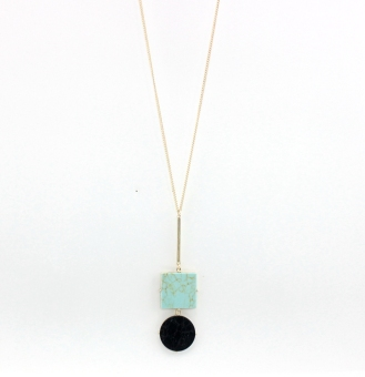 European and American style origional Song Shi inlaid necklace