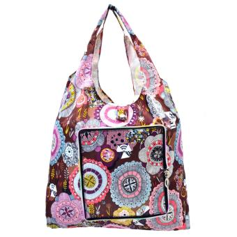 Everyday Deal Klein Travel Women Eco Shopping Bag Tote Handbag Foldable Reusable Portable Casual Storage Pouch (Flowers) - 2