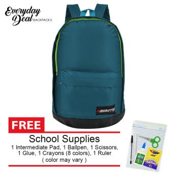 Everyday Deal Merletto School Backpack (Teal) with FREE School Supplies Price Philippines