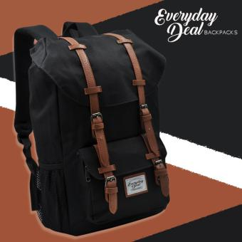 Everyday Deal Travel Laptop Backpack (Black/Brown)