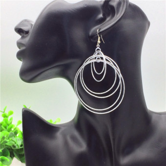 Exaggerated big circle earrings Ring