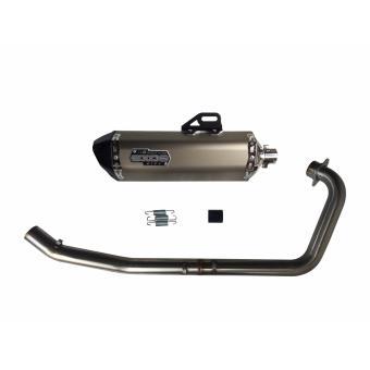 EXOS R6 Raider 150 Full Exhaust System - Titanium Anodized - 2