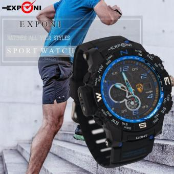 Exponi 3252 Men PU Strap Backlight Sports Dual time Watch Price Philippines