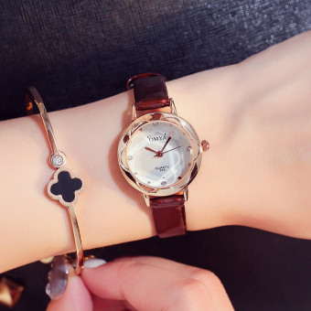 Exquisite Korean-style leather belt waterproof small quartz watch