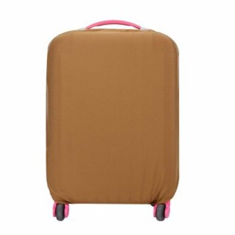 Extra Thick Suitcase Protective Anti-Scratch Luggage Cover brown (S18in to 20in)