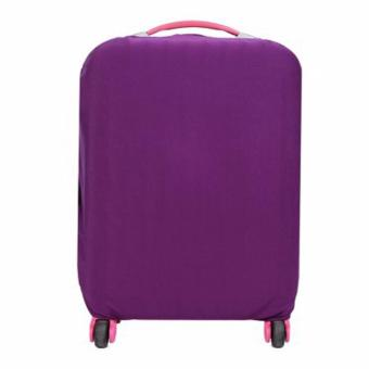 Extra Thick Suitcase Protective Anti-Scratch Luggage Cover Purple(L 26in to 30in)