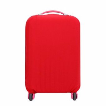Extra Thick Suitcase Protective Anti-Scratch Luggage Cover red (L26in to 30in)