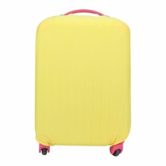Extra Thick Suitcase Protective Anti-Scratch Luggage Cover yellow(M 22in to 24in)
