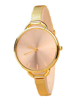 Fancyqube European And American Retro Steel Men's Watches For Women Gold