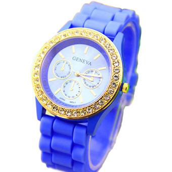 Fancyqube Fashion Lady Diamond Jelly Watch Blue