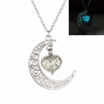 Fancyqube New Fashion Luminous Glow In the Dark Necklace Sailor Moon Pendant Necklace For Women Light Blue(White 50 CM) - intl